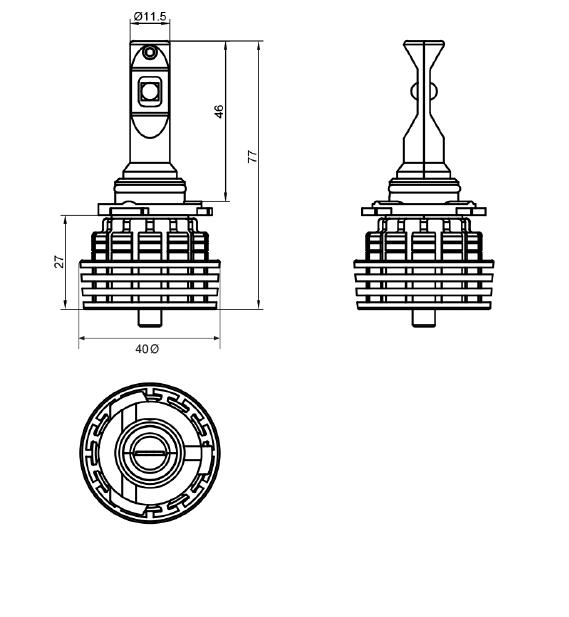 ledhb35000lm led hb3-5000lm headlamp upgrade kit hb3 globe headlamp 12v